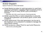 sced dispatch special features for wind generation