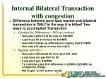 internal bilateral transaction with congestion