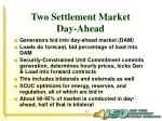 two settlement market day ahead