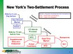 new york s two settlement process