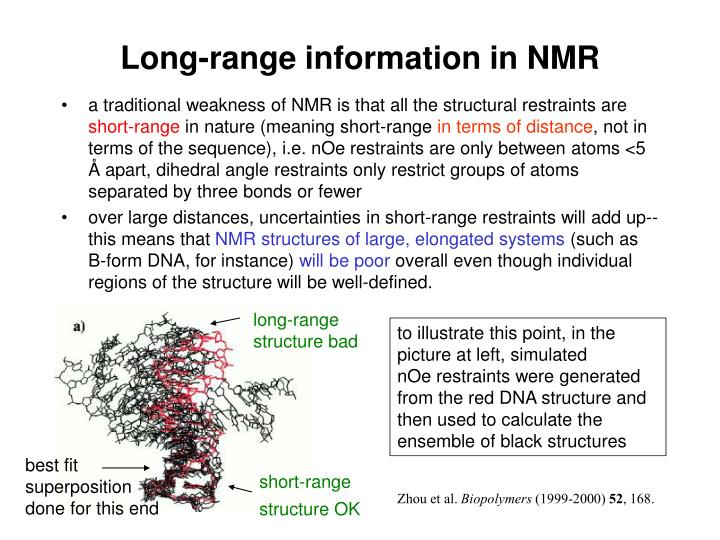 Long-range information in NMR