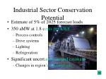 industrial sector conservation potential