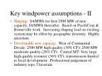 key windpower assumptions ii