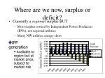 where are we now surplus or deficit