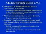 challenges facing esis in lacs4
