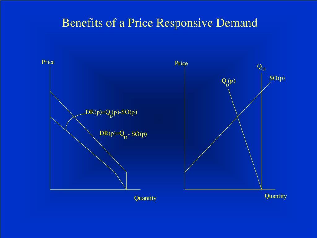 Benefits of a Price Responsive Demand