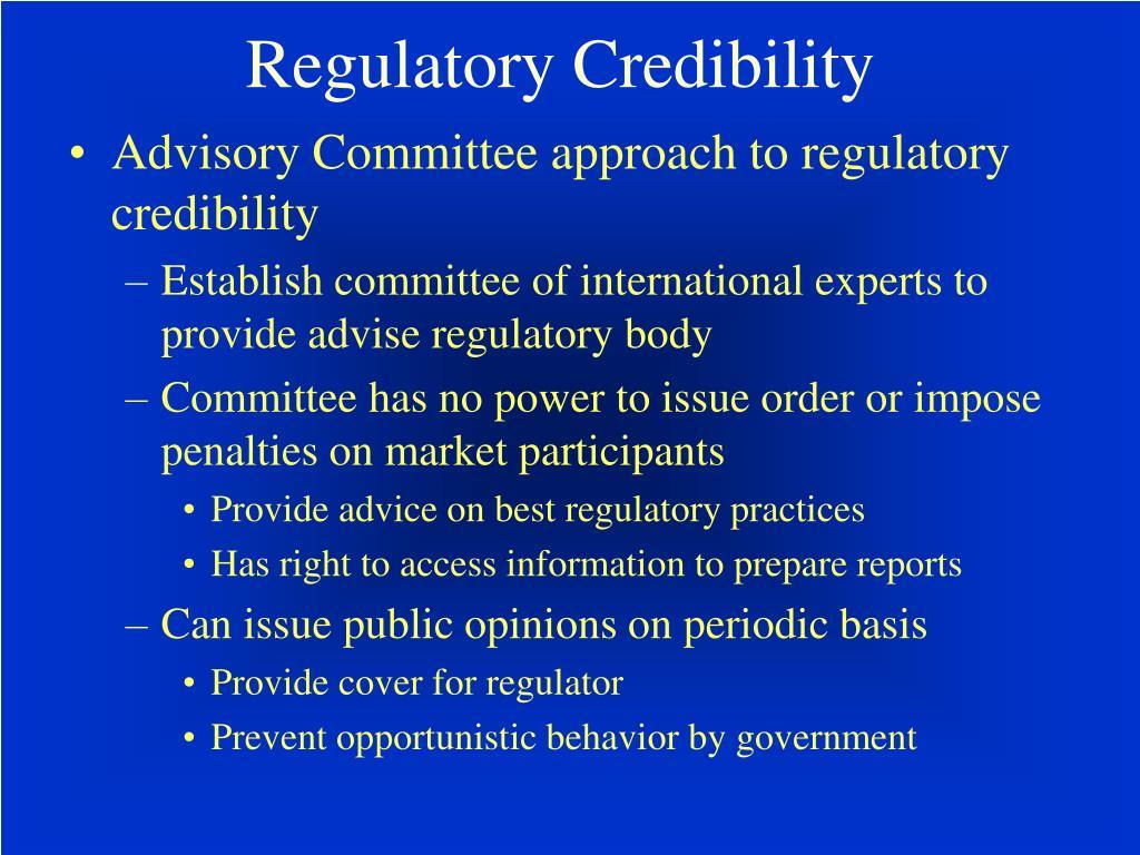 Regulatory Credibility