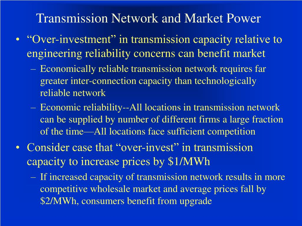 Transmission Network and Market Power