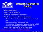 emissions allowances trading