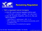 remaining regulation