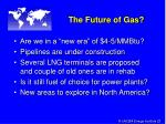 the future of gas
