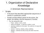 1 organization of declarative knowledge8