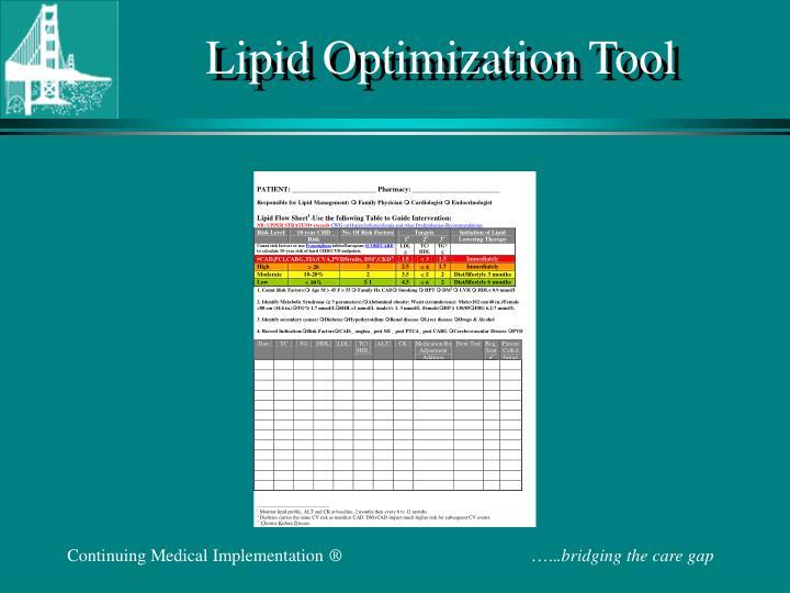 Lipid Optimization Tool