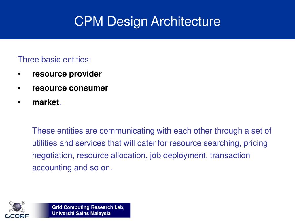 CPM Design Architecture