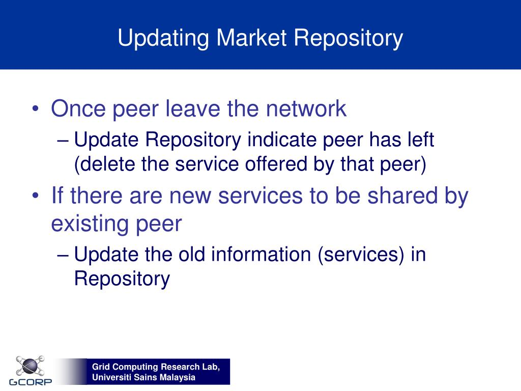 Updating Market Repository