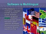 software is multilingual