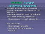 whonet a global networking programme