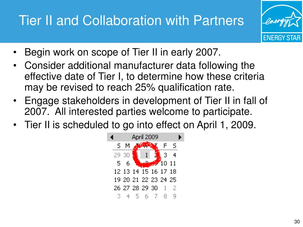 Tier II and Collaboration with Partners
