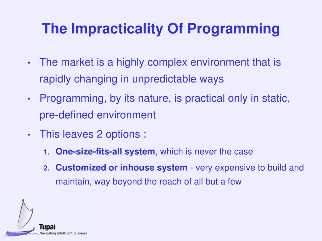 The Impracticality Of Programming