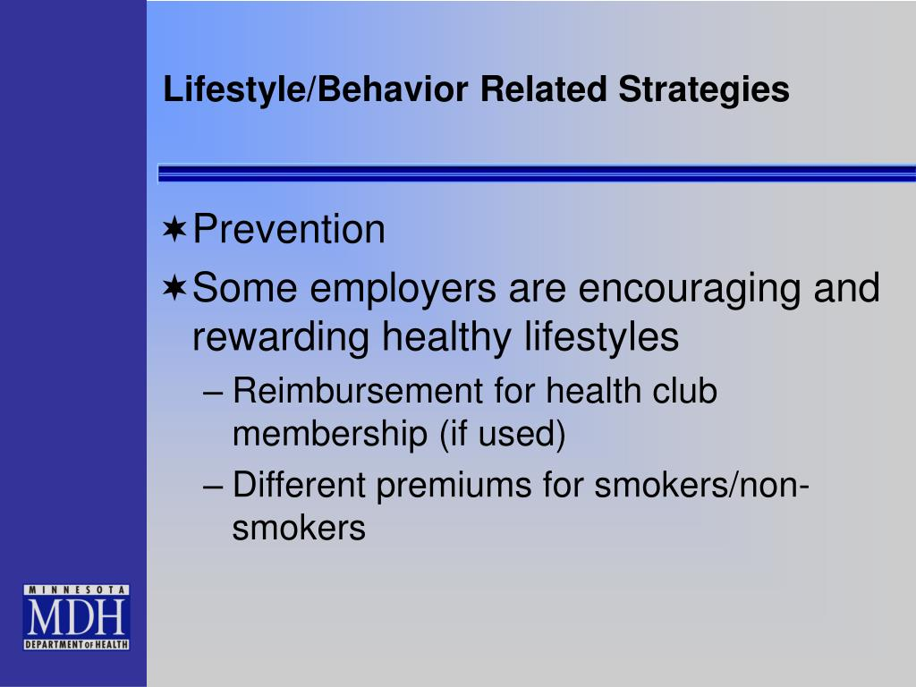 Lifestyle/Behavior Related Strategies