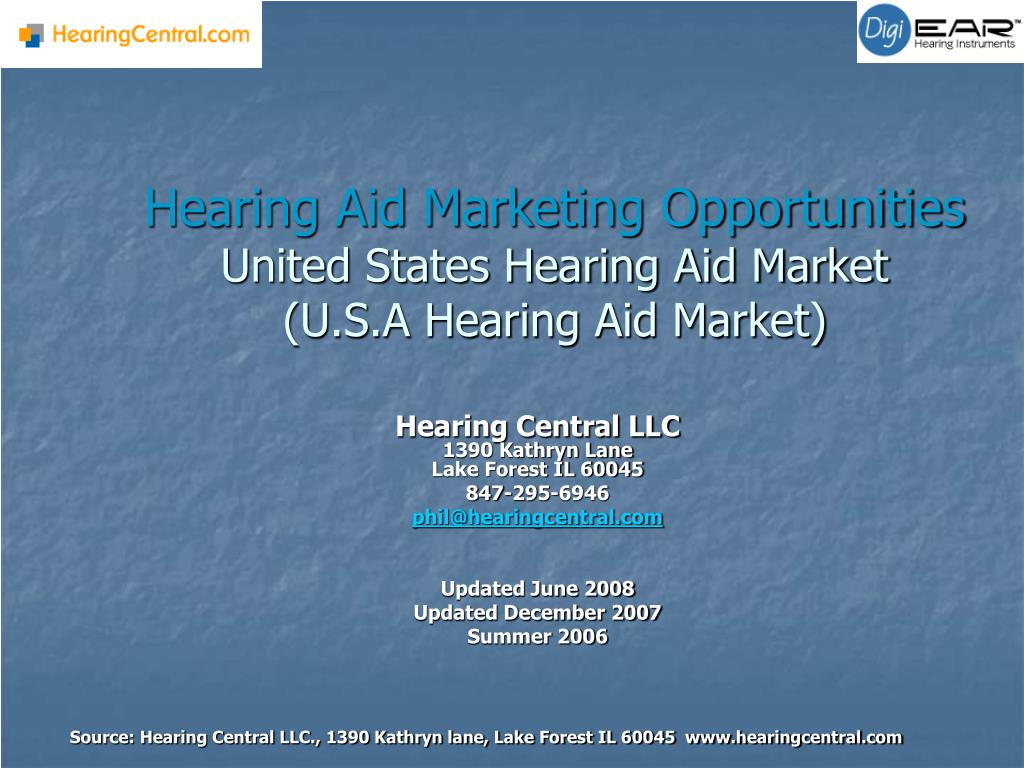 hearing aid marketing opportunities united states hearing aid market u s a hearing aid market l.