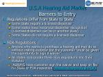 u s a hearing aid market barriers to entry