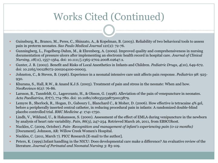Works Cited (Continued)