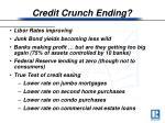 credit crunch ending