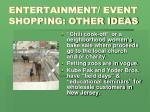 entertainment event shopping other ideas