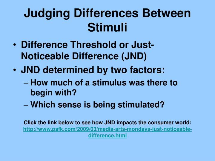 Judging Differences Between Stimuli