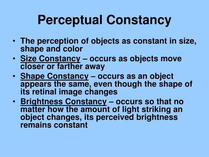 Perceptual Constancy