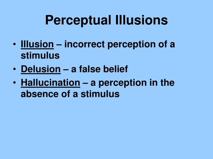 Perceptual Illusions