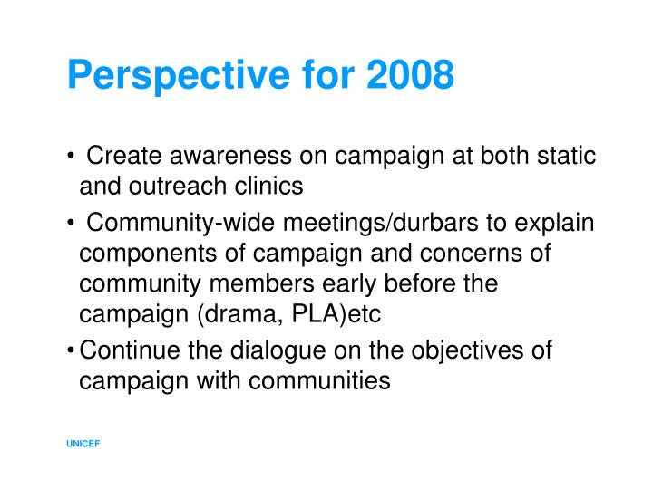 Perspective for 2008