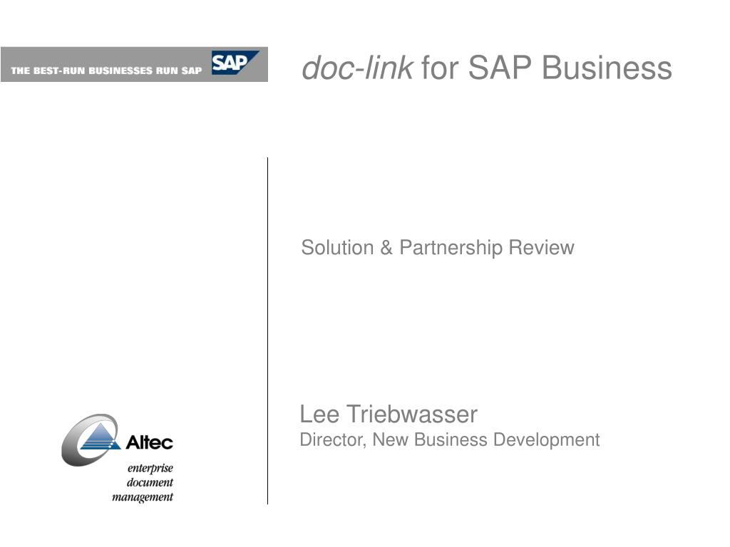 doc link for sap business