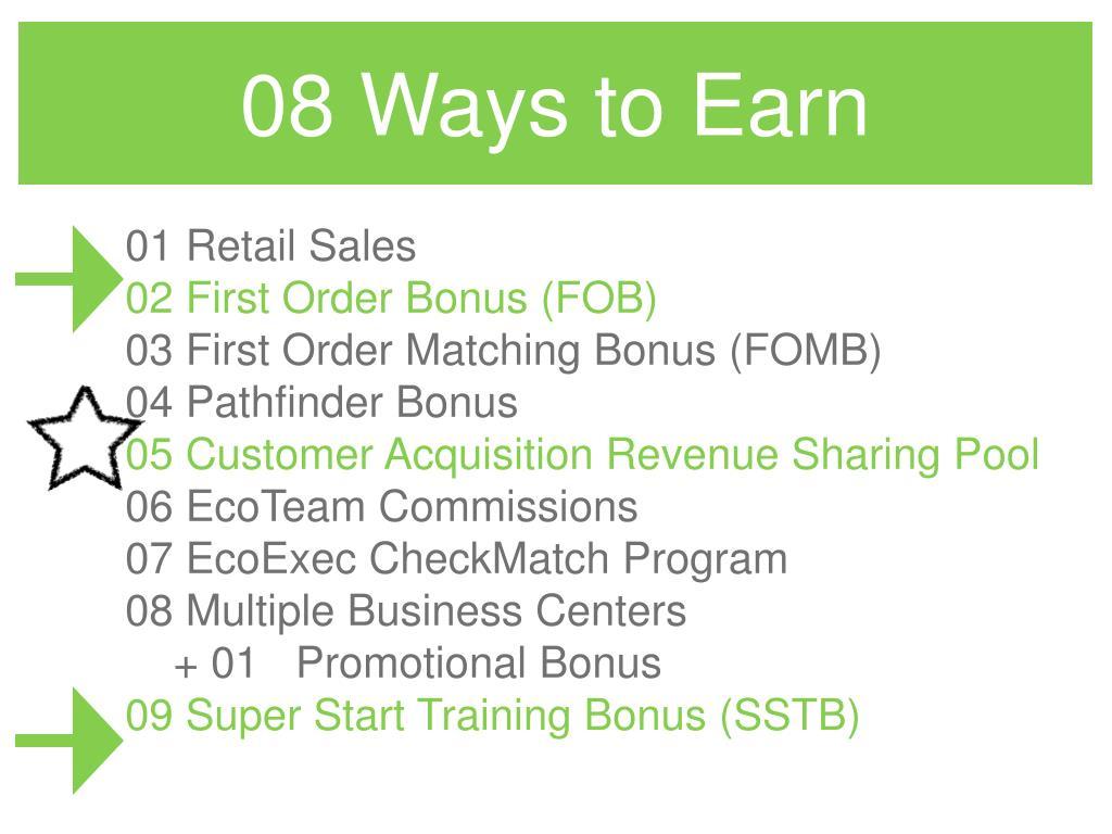 08 Ways to Earn