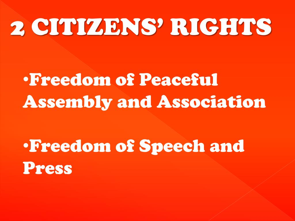 2 CITIZENS' RIGHTS