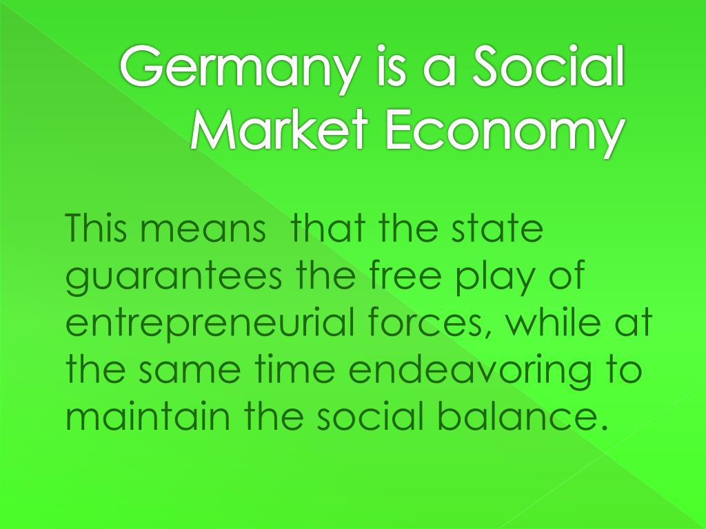Germany is a Social