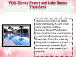 walt disney resort and lake buena vista area