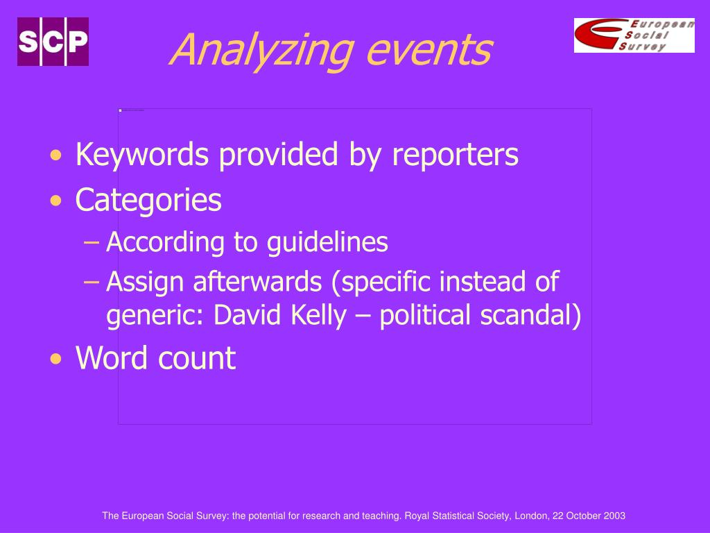Analyzing events