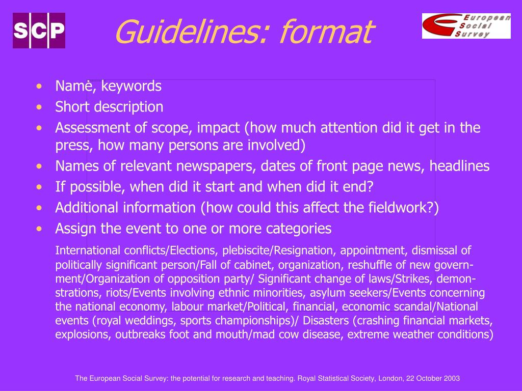 Guidelines: f