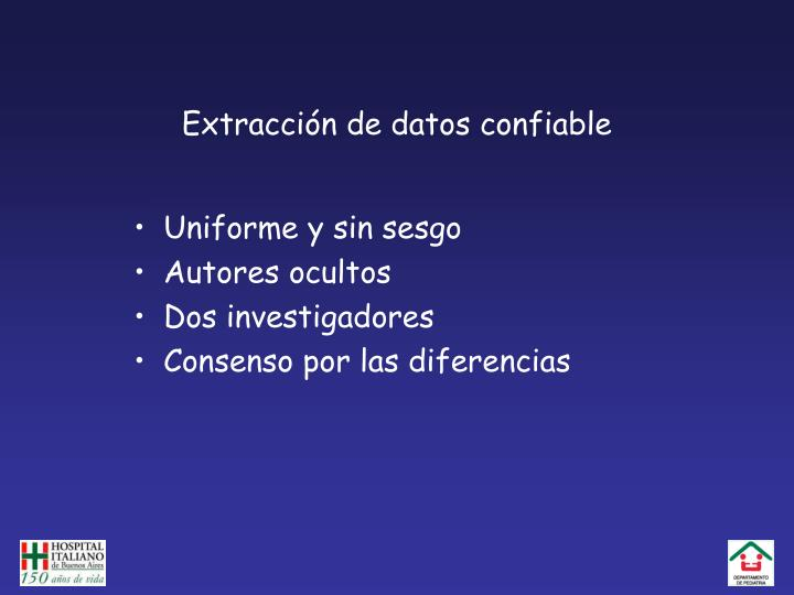 Extracción de datos confiable