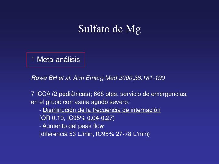 Sulfato de Mg