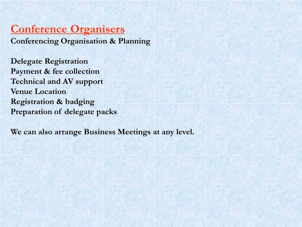 Conference Organisers