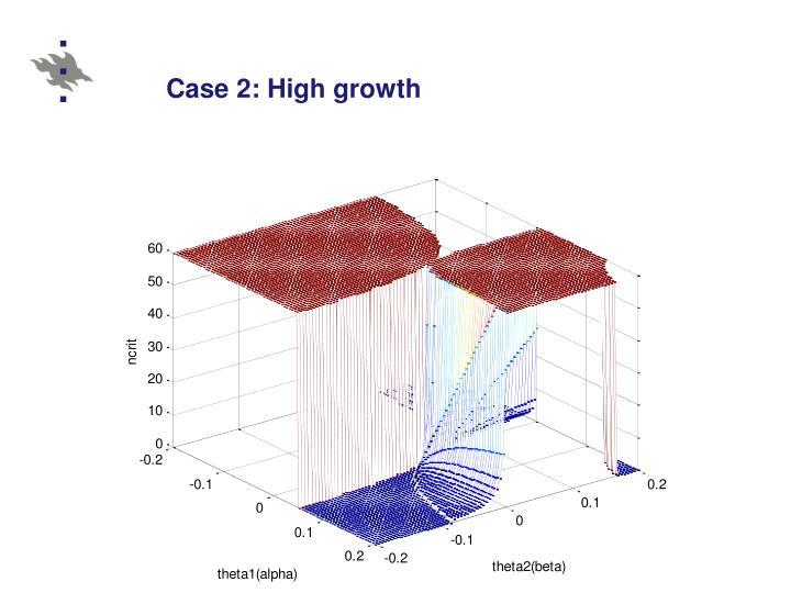 Case 2: High growth