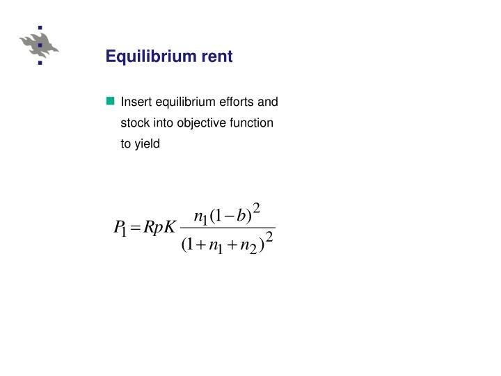 Equilibrium rent
