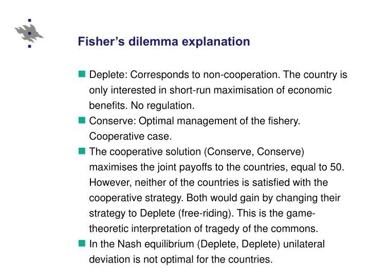 Fisher's dilemma explanation