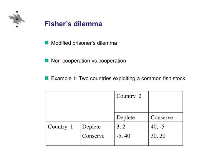 Fisher's dilemma
