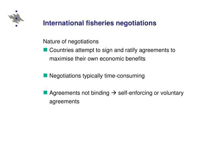 International fisheries negotiations
