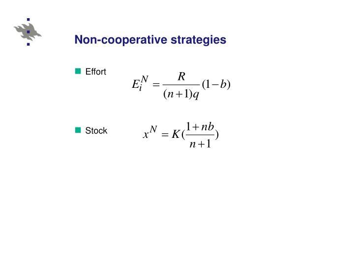 Non-cooperative strategies