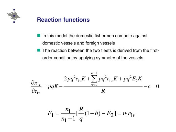 Reaction functions